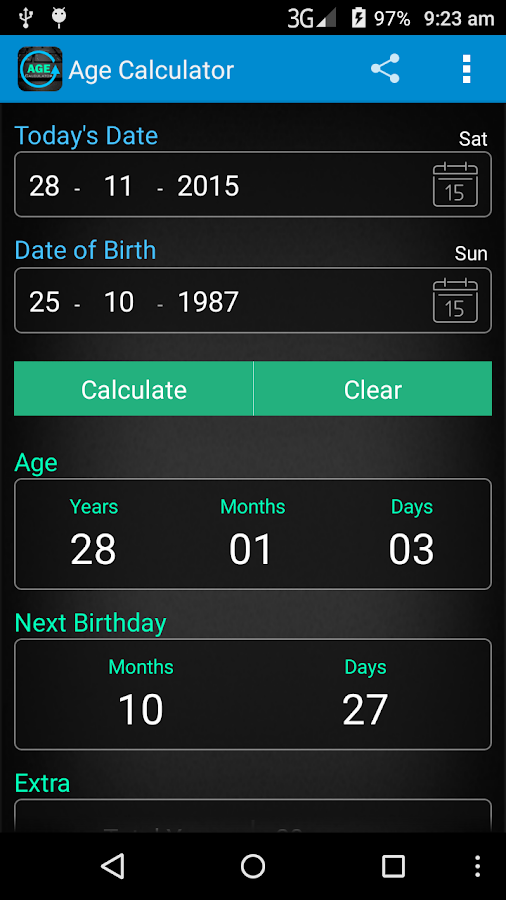 Age Calculator- screenshot