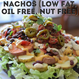 Vegan Potato Nachos (Oil Free, Nut Free, Low Fat).