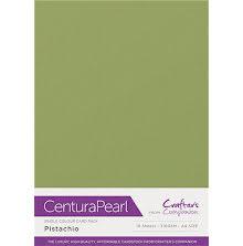 Crafters Companion Centura Pearl Card Pack A4 10Pkg 300gr - Pistachio