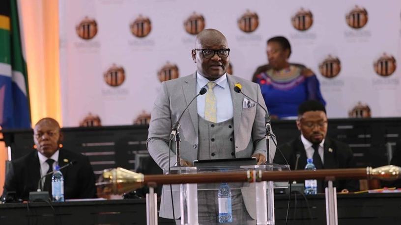 Gauteng premier David Makhura delivered his last State of the Province Address yesterday. (Photo source: Gauteng Province Twitter page)