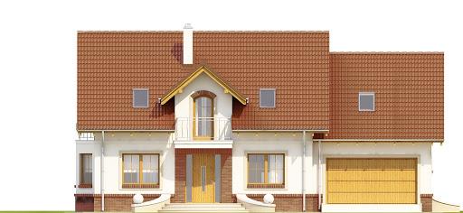 Dom Dla Ciebie 1 w3 z garażem 2-st. A1 - Elewacja przednia