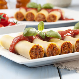 Cannelloni with Homemade Turkey Sausage.
