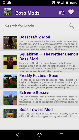 android Boss Mod For MCPE' Screenshot 1