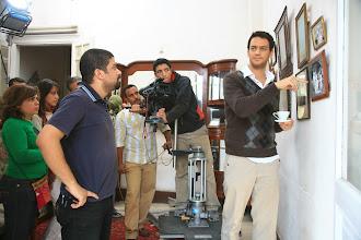 Photo: Ahmad Abdalla, in the set of Heliopolis - Cairo 2009, with Actor Khaled abol Naga, DOP:Mahmoud Lotfy.