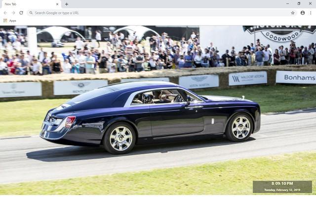 Rolls Royce Sweptail New Tab Theme