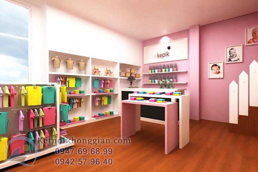 thiết kế shop thời trang trẻ em giá rẻ