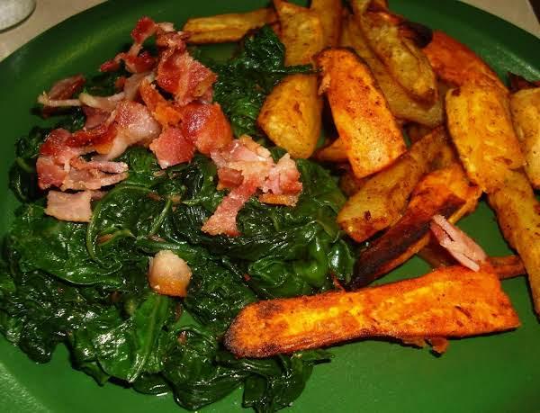 Collard Greens With Sweet Potato Fries Recipe