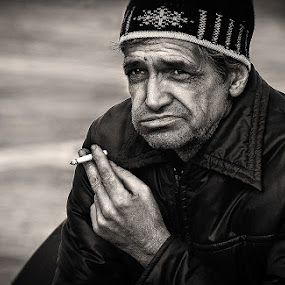 by Veronica Gafton - People Portraits of Men ( old, sad, tired, disappointed, man )