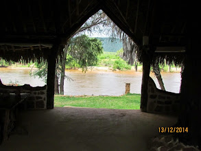 Photo: View of the river (and hippos) from the dining area