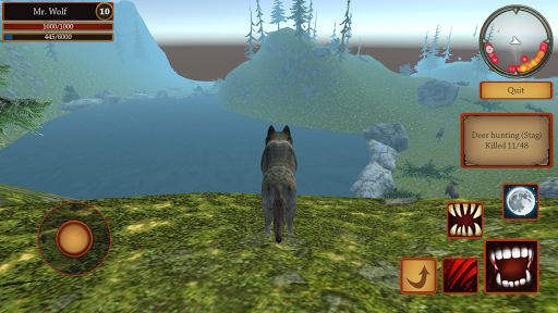 Wolf Simulator Evolution  captures d'u00e9cran 2