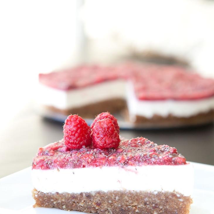 RAW Raspberry Chia Cheesecake Recipe