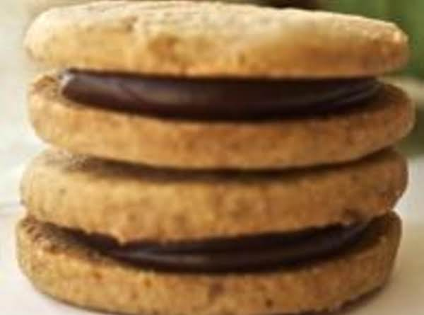Chocolate Cardamom Filled Cookies