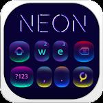 Fluorescent neon Keyboard Icon