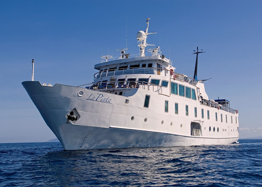 La Pinta from Un-Cruise Adventures gives passengers a close-up experience with the wildlife of the Galapagos.
