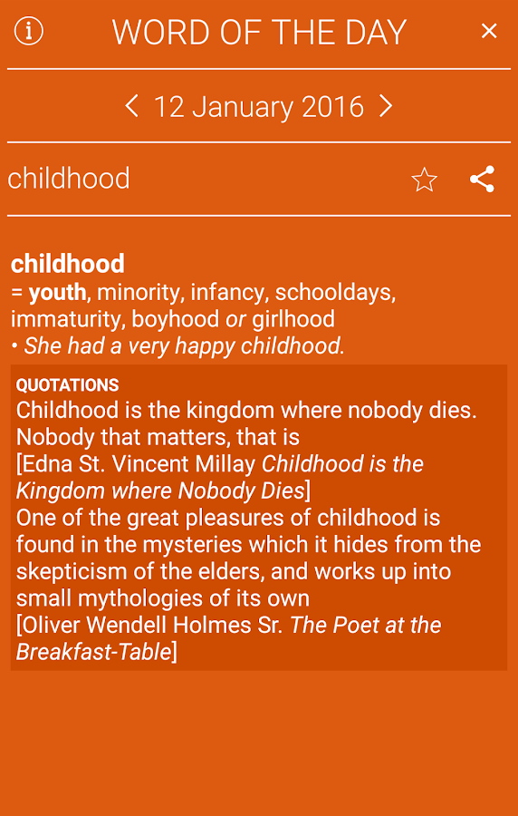 Collins Thesaurus English- screenshot