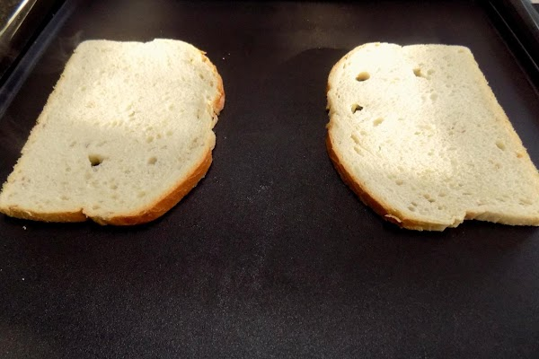 Butter one side of each slice of bread. Grill over medium heat until golden...