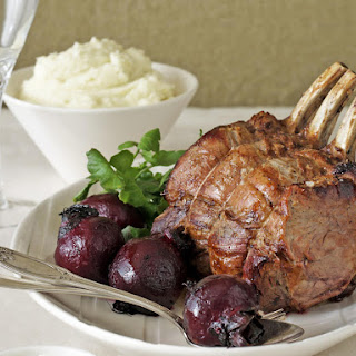 Beef Rib Roast with Potato Puree and Roasted Beets