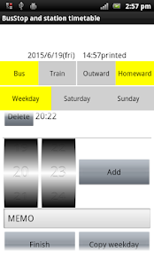 Bus and train my timetable- screenshot thumbnail