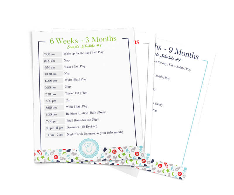 Mock up of printable routines based on age and sleep.