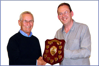 Photo: John Dury receiving the Eddie Masters trophy from the Chairman - well deserved John!