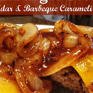 Hamburger Steaks with Barbeque Caramelized Onions.