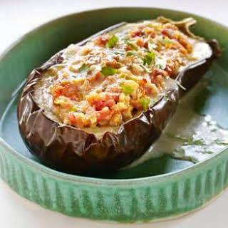 Pork & Shrimp Stuffed Eggplant.