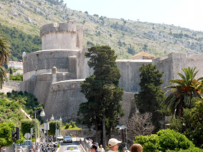 Photo: We spent the next day sightseeing. This is the great Roman fortress in Dubrovnik. It encloses the walled city and has been nicely repaired since the Yugoslav wars.