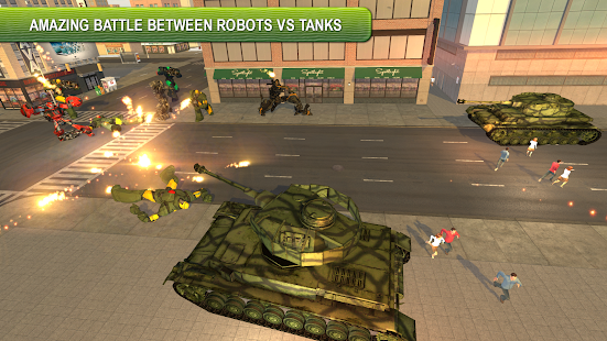 Future Robot Tank Transform City Battle - náhled