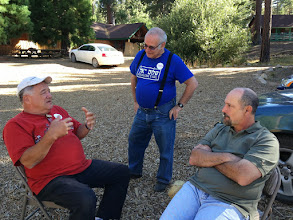 Photo: Go away, we're figuring out how to buy camp!!!  Steve Klein, Aaron (Shepsie) Barlev & Marty Cohen