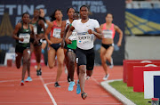 South Africa's Caster Semenya wins the women's 800m.