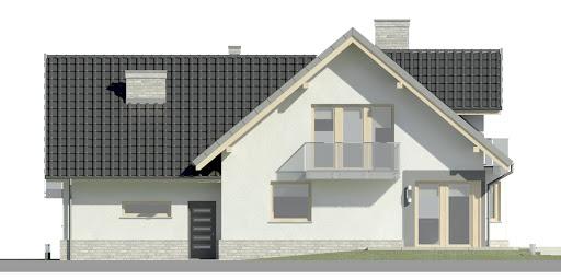 Dom przy Cyprysowej 15 K3 - Elewacja tylna