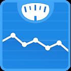 体重日记和BMI计算器 – WeightFit icon