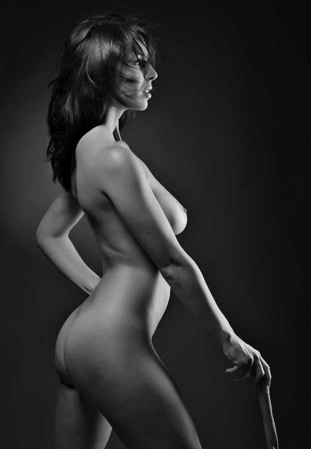 a proud woman by Shaun HODGE - Nudes & Boudoir Artistic Nude ( model, art nude, walking stick,  nude, skin )