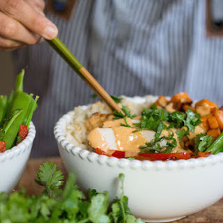 Thai Peanut Turkey Bowls