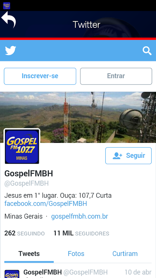 Gospel FM Minas Radio- screenshot