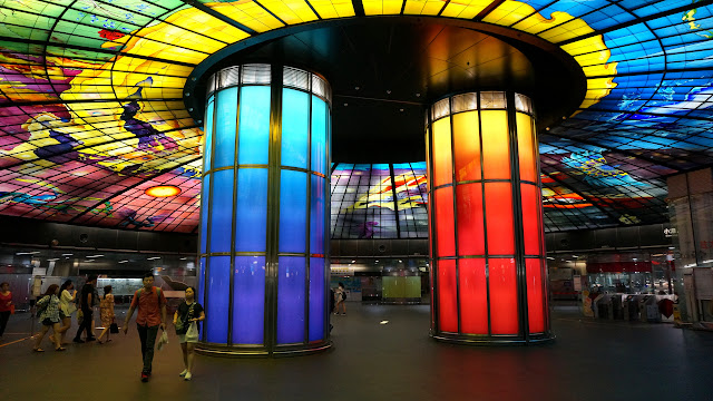 the magical Dome of Light subway station in Kaohsiung, Taiwan in Kaohsiung, Kao-hsiung city, Taiwan