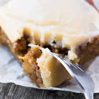 Maple Frosted Apple Blondies.