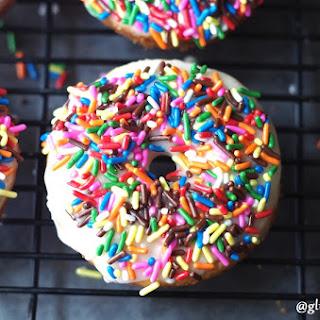 Gluten-Free Vanilla Birthday Cake Donuts (11 Ingredients).