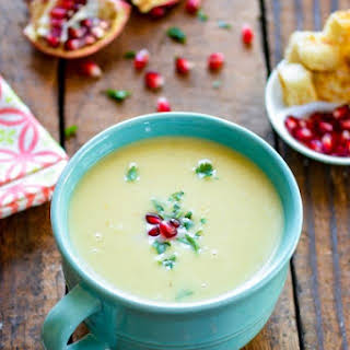 Creamy Potato Leek Soup in Pressure Cooker.