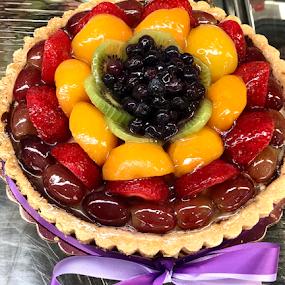 Tart by Lope Piamonte Jr - Food & Drink Candy & Dessert ( ribbon, tart, sweet, berries, pie )