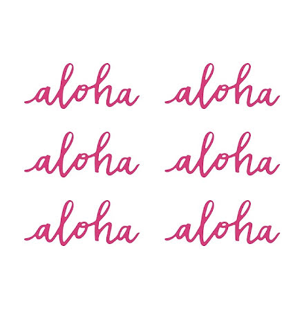 Pappersdekoration - Aloha