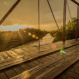 Wooden Bridge by Laura Gardner - Buildings & Architecture Bridges & Suspended Structures