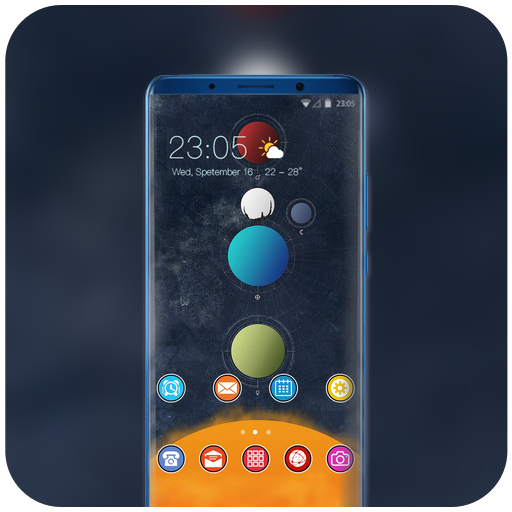 Theme for hand draw planets wallpaper icon