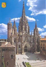 Photo: The Barcelona cathedral was undergoing renovations, so this post card photo will have to do.