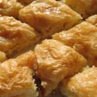 Pineapple Cheesecake Baklava with Mango Liqueur Syrup Recipe