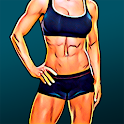 Burn fat workout in 30 days. HIIT training at home icon