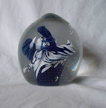 """Photo: sticker on base read """"MADE IN KINGS LYNN  CAITHNESS GLASS  BY KERRY"""""""