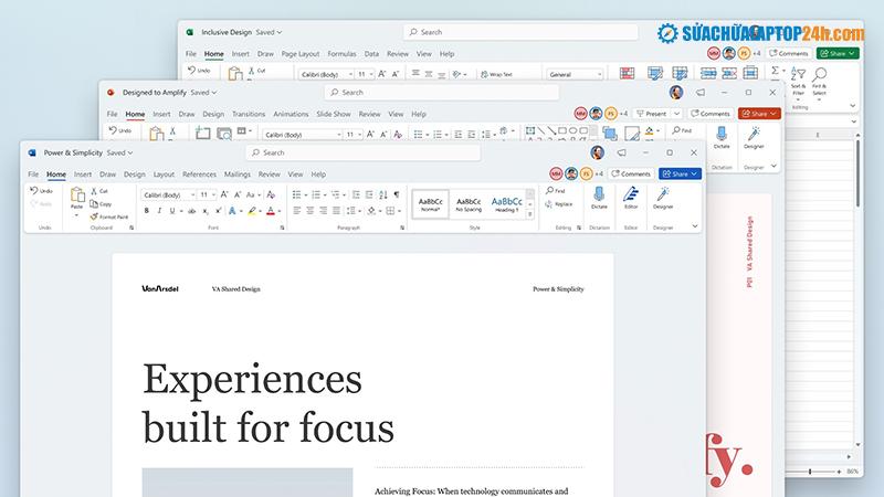 Office 2021 sẽ có thiết kế tối giản hơn