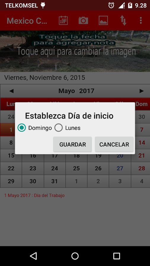 Mexico Calendario 2016- screenshot