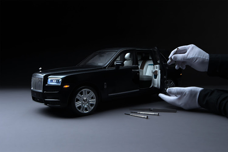 Not your average scale model, the 1:8 Rolls-Royce Cullinan is crafted with nearly as much care as the real car. Picture: SUPPLIED